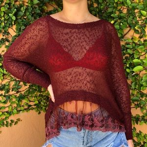 LF Lace Sheer Top